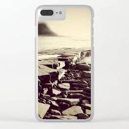 The Misty Shore Clear iPhone Case