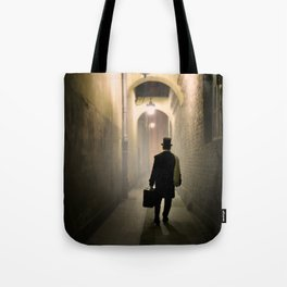 Victorian man with top hat Tote Bag