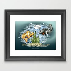When Clownfishes meet Framed Art Print