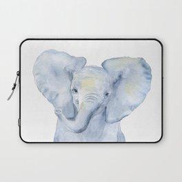 Baby Elephant Watercolor Laptop Sleeve