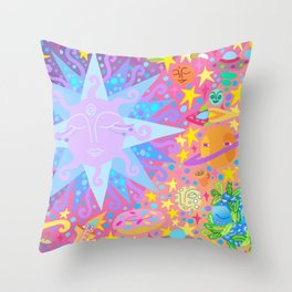 INTERSTELLAR SUNSET BREAKFAST Throw Pillow