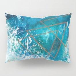 Low Tide Ocean Beach Geometric Pillow Sham