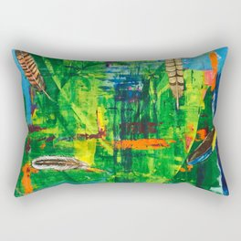 Floating Feathers - by Toni Wright Rectangular Pillow