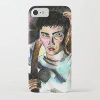 donnie darko iPhone & iPod Cases featuring Donnie Darko Portrait by Colin Webber