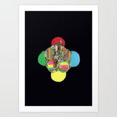 Hulla oOp Art Print