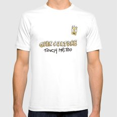 Geek culture / touch me, too MEDIUM White Mens Fitted Tee