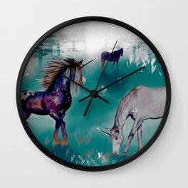 Galaxy Unicorn Wall Clock