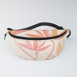 Basking In The Summer Sun / Japanese Botanical Woodblock Fanny Pack