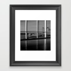 Seen from the terminal Framed Art Print