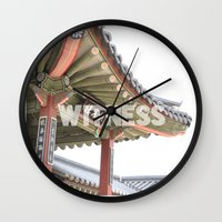 korea Wall Clocks featuring Witness Korea  by Art and Parchment