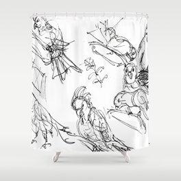 Birds at the Hamlins           by Kay Lipton Shower Curtain