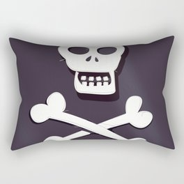 Pirate Skull and crossbones flag Rectangular Pillow