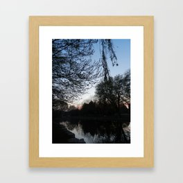 Victoria Park at dusk - Vertical Shot - Kitchener, ONT Framed Art Print
