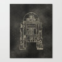 r2d2 Canvas Prints featuring R2D2 by LindseyCowley