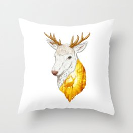 Enchanted Stag Throw Pillow
