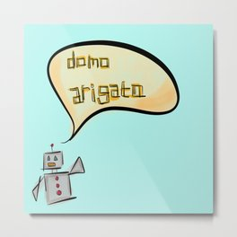 Mr. Roboto Metal Print
