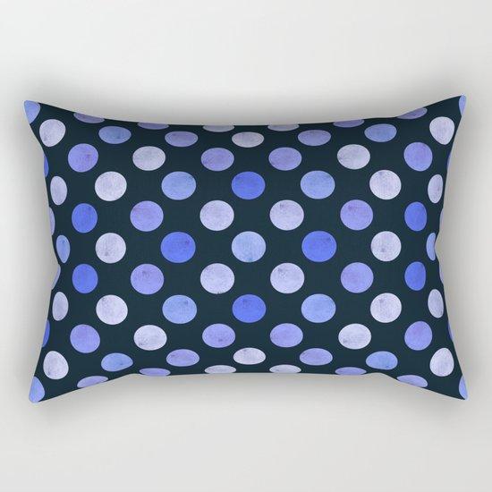 Watercolor Dots Pattern X Rectangular Pillow