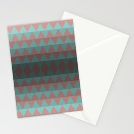Green and Red Stripes  Stationery Cards
