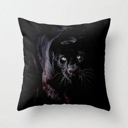 Panther Eyes Throw Pillow