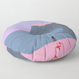 Stripped Floor Pillow