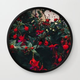 Thunder and Flowers Wall Clock