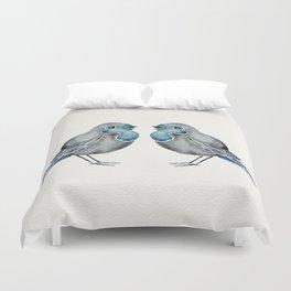 Little Blue Birds Duvet Cover