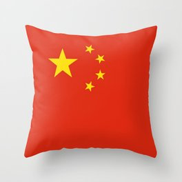 flag of china 0-中国,chinese,han,柑,Shanghai,Beijing,confucius,I Ching,taoism. Throw Pillow
