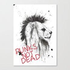 punks not dead Canvas Print