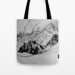 Iceland Mountains Sketch Tote Bag