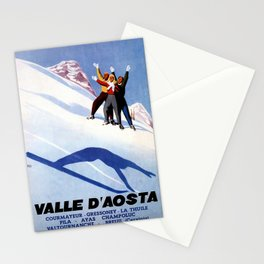Aosta Valley winter sports Stationery Cards