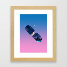Chill Pill Framed Art Print