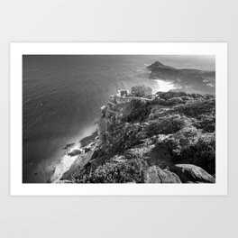 Cliffs along Cape Point, South Africa Art Print