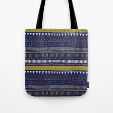Dark Blue Pattern Tote Bag