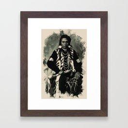 Native American Indian Portrait Profile Series - No 2 Framed Art Print