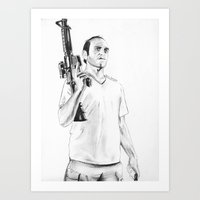 grand theft auto Art Prints featuring Grand Theft Auto 5 by Chris Samba