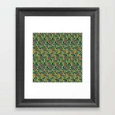 Little Pencils Green Framed Art Print
