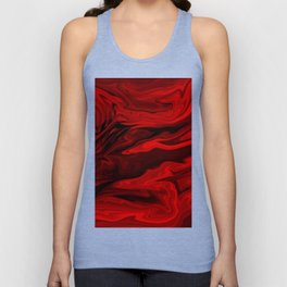 Blood Red Marble Unisex Tank Top