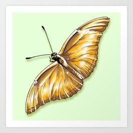 Papillon jaune Art Print