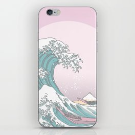 Great Wave Pastel iPhone Skin