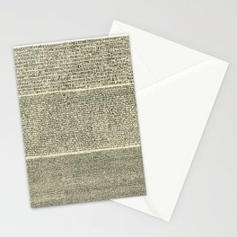 The Rosetta Stone // Parchment Stationery Cards