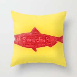 Swedish Fish Throw Pillow