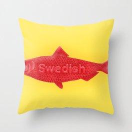 Swedish Fish Throw Pillow