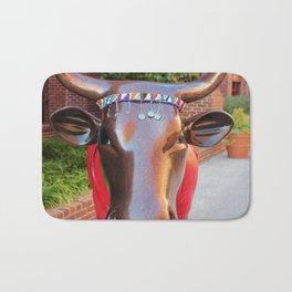 Moo Sai Warrior Cow 2 Bath Mat