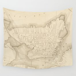 Vintage Map of Charlestown MA (1906) Wall Tapestry