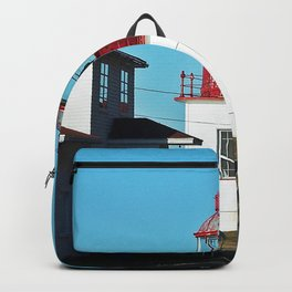 Cap-Chat Lighthouse in Spring Backpack