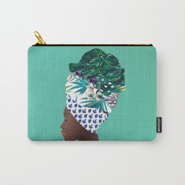 Tofo, Mozambique Capulana Lady Carry-All Pouch