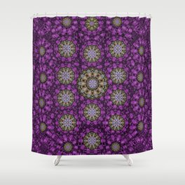 ornate heavy metal stars in decorative bloom Shower Curtain