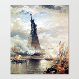 Statue of Liberty Unveiling Canvas Print