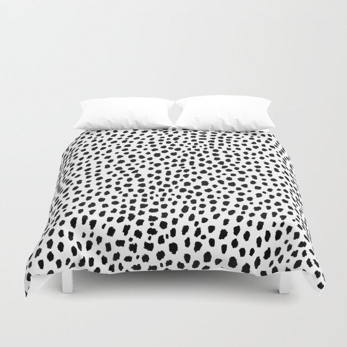 Dalmatian Spots (black/white) Bettbezug