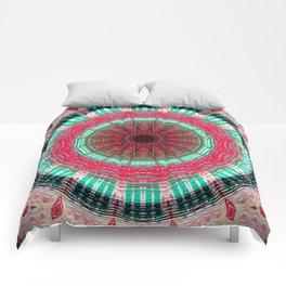Bright Detailed Decorative Mandala Design Comforters